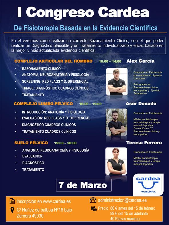 I Congreso Cardea de fisioterapia basada en la evidencia científica